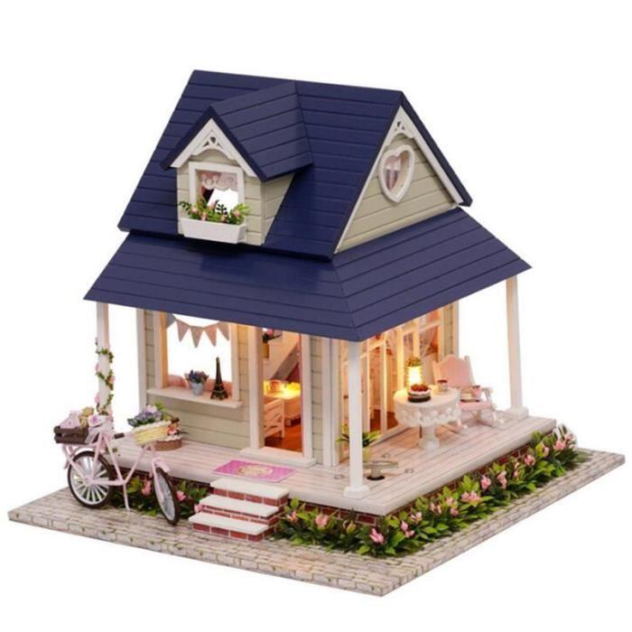 Angle De Vélo En Bois Bricolage Miniature Poupée Maison Meubles