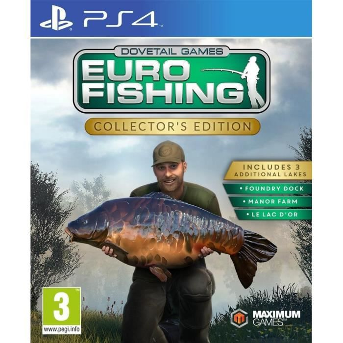 JEU PS4 Euro Fishing: Collector's edition Jeu PS4