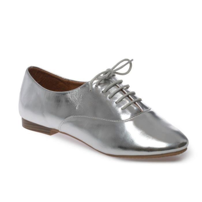 La Modeuse - Chaussures plates à lacets type riche 8c79152913a7
