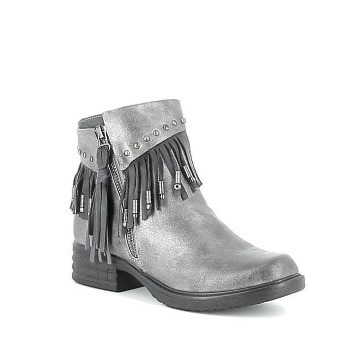Boots à franges - Gris - 36