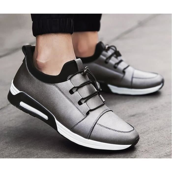 Mode pour hommes Casual Chaussures Outdoor Hommes cuir Flats Sport Chaussures, Hommes Printemps Mode Casual Chaussures De Plein