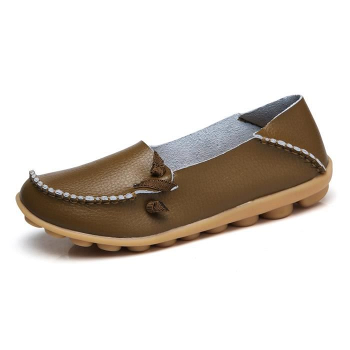 Comfort Walking Cute Flat Loafer WF20Z Taille-42 LqzZLGliI