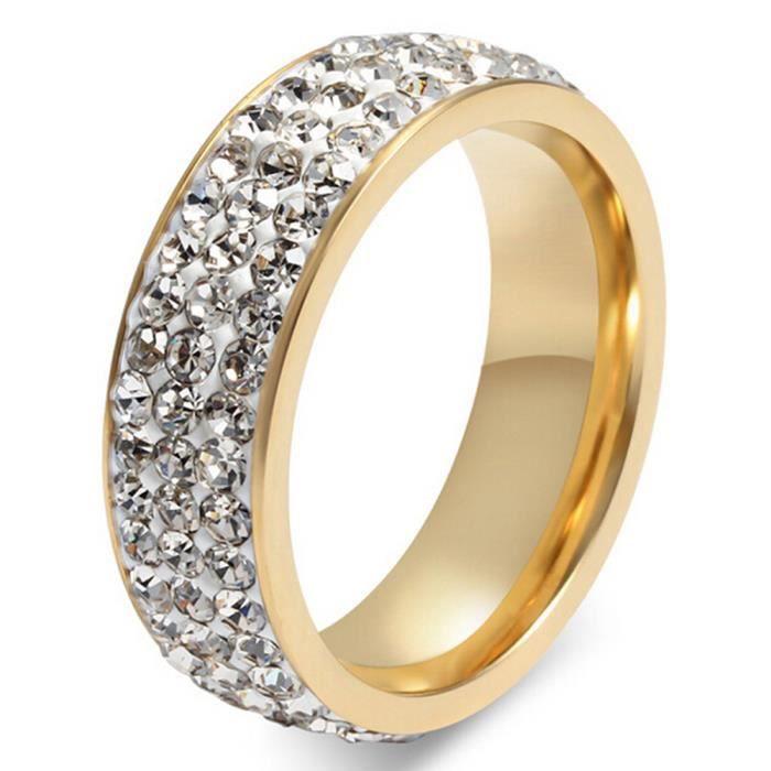 5732eeb91fe Amante Bague Couple Amour Mariage Fiançailles Acier Inoxydable Blanc  UQ 51