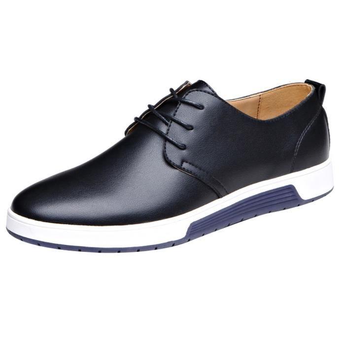 Hommes Cuir Business Plates Mariage Casual Chaussures En Noir Shoes De Mode rthdsCBxQ