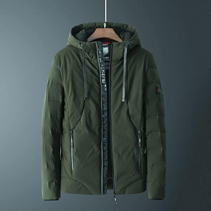 Pure D'hiver Les Mode Capuche poche Zippée Marioyuzhang À Hommes HEZH8w