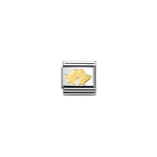 Nomination 030117 - Maillon Pour Bracelet Composable - Femme - Acier Inoxydable Et Or Jaune 18 Cts DUZT0
