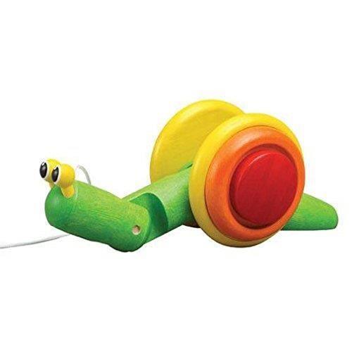 PELUCHE Plan Toys Jouet En Bois - Jeu D'éveil - Escargot à