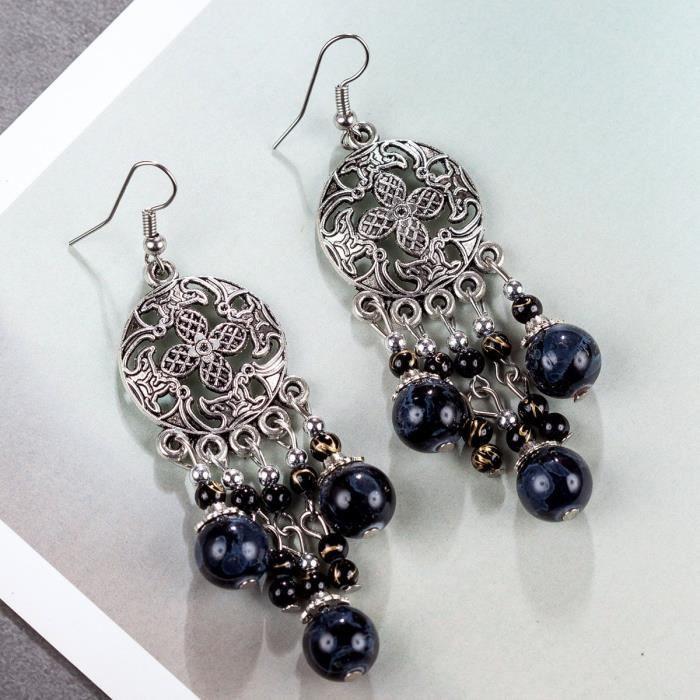 Bohême Vintage Drop femmes et Dangle Boucles doreilles pour la mode KT5N7