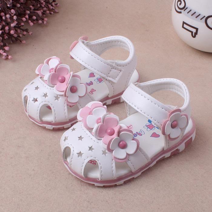 Frankmall®Bébé filles sandales Casual fleurs chaussures Sneaker anti-dérapant Soft Sole BLANC#WQQ0926069 DzDQaD5IMI