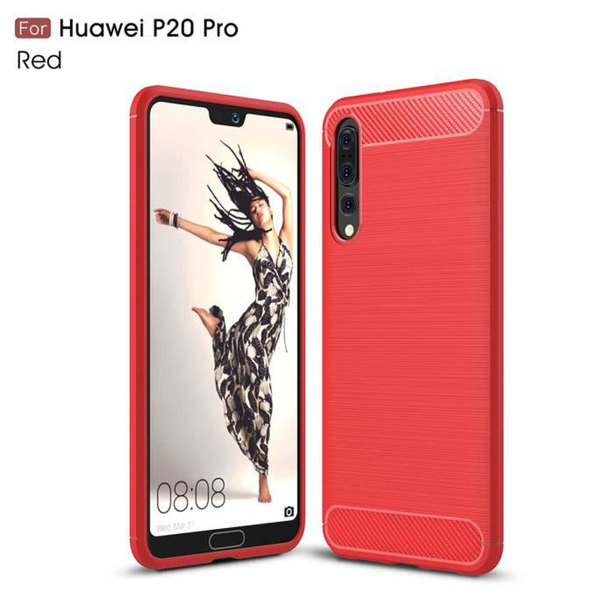 huawei p20 pro coque rouge