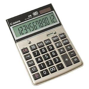 CANON Calculatrice de bureau HS-1200TCG - 12 chiffres - Panneau solaire, pile - Champagne