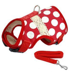 HARNAIS ANIMAL Version Rouge Dot - L - Doux Imprimé Chien Harnais