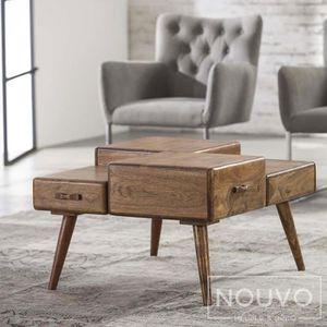 TABLE BASSE Table de salon bois SANLUIS