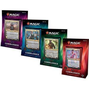 CARTE A COLLECTIONNER Magic The Gathering - Lot de 4 Decks Commander 201