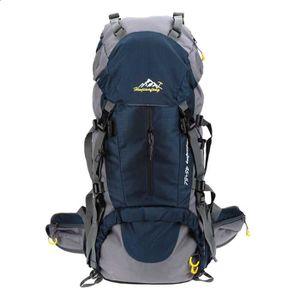 meilleure sélection 774ab c80bb Lixada 50L Sac à dos bleu Imperméable de Sports extérieur Randonnée Camping  Alpinisme Escalade avec couverture de pluie