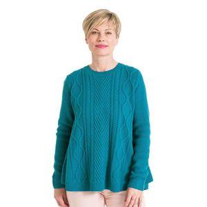 106198c879d25 PULL WoolOvers Pull trapèze torsadé Femme Laine mélangé
