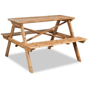 Cette Table De Pique Nique En Bambou De Qualité Supérieure Avec