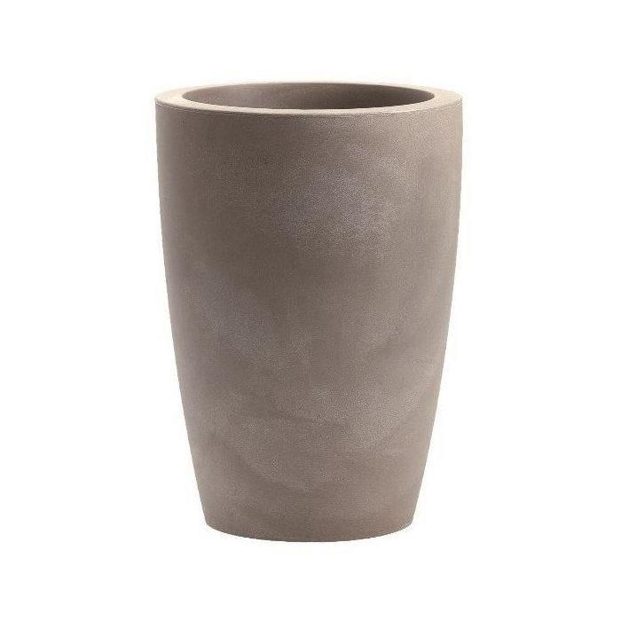 NICOLI Cache pot, utilisable comme pot Tylus Matt 40 S - 40 x 53 cm - Gris cendré