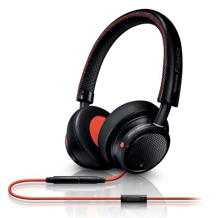PHILIPS FIDELIO M1 orange - Casque audio avec micro - Bass Reflex