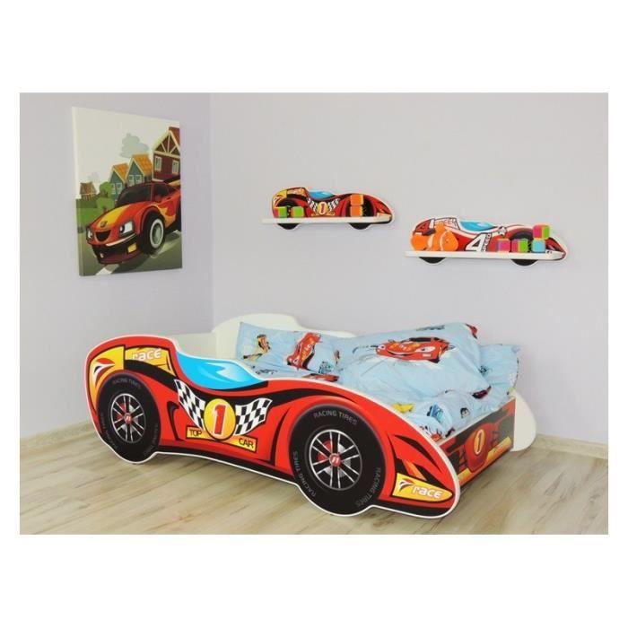 lit voiture cars pas cher cheap structure de lit lit enfant voiture x matelas fresh car with. Black Bedroom Furniture Sets. Home Design Ideas
