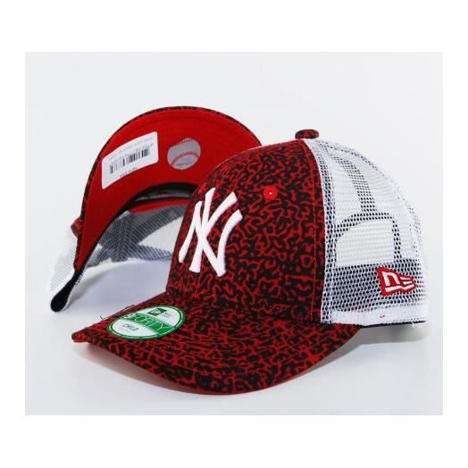 Casquette Trucker Enfant New Era Child Lava NY Yankees Rouge - Achat ... dab79426c34