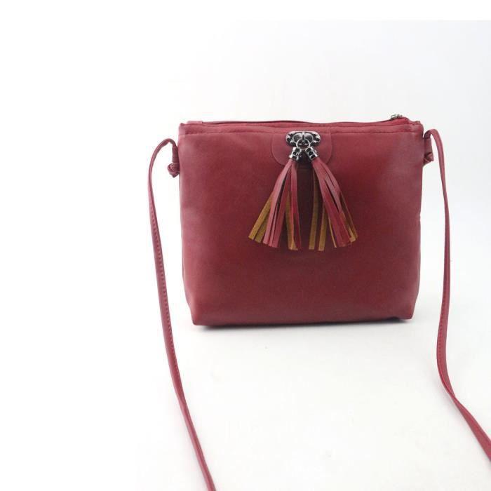 SAC À MAIN Femmes Mode Tassel Mini sac à main Sac à bandouliè