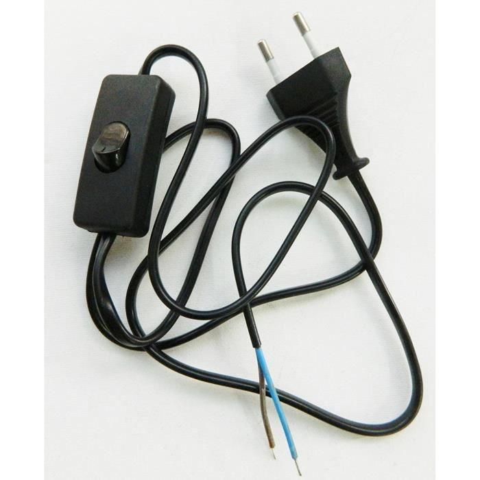 Lampe Fil Kit CâbleRaccordement CordonPrise Interrupteur Montage Pour FKcJTl1