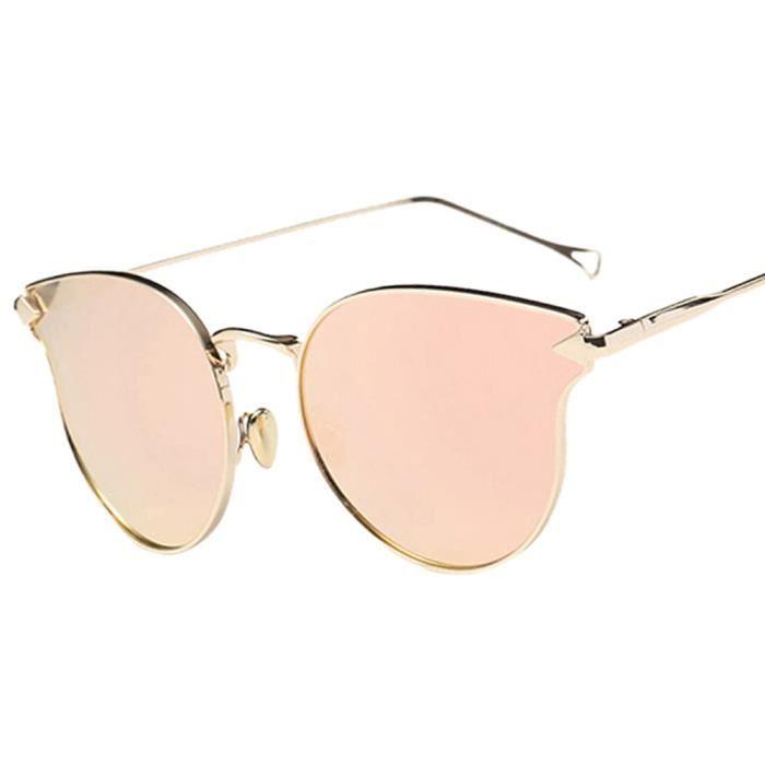 de 1371 Métal An Bordure Mode Femme chat Homme soleil miroir rose Vintage des lunettes 1PXwPd