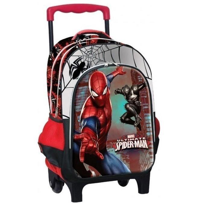 Sac à roulettes Spiderman Warriors 43 CM HAUT DE GAMME - Cartable
