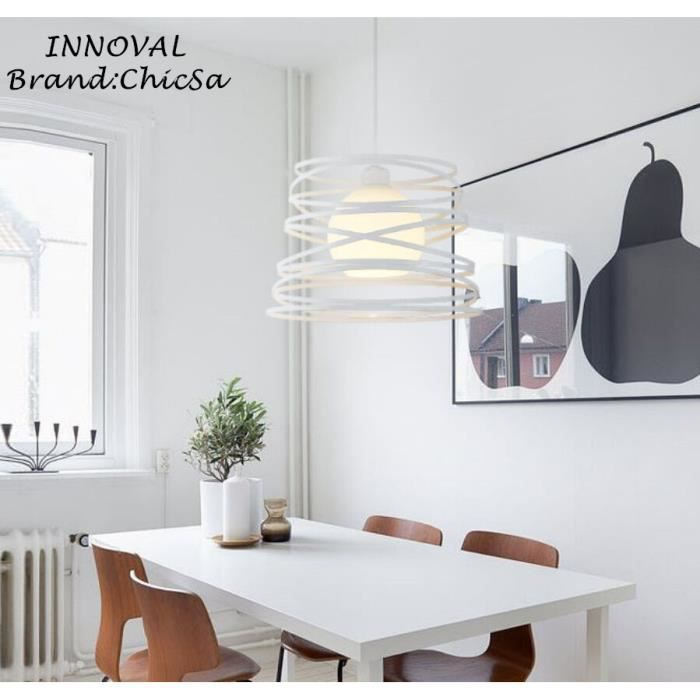 Blanc lustre de restaurant en fer forg moderne et simple personnalit cr ativit bar caf for Fer forge moderne