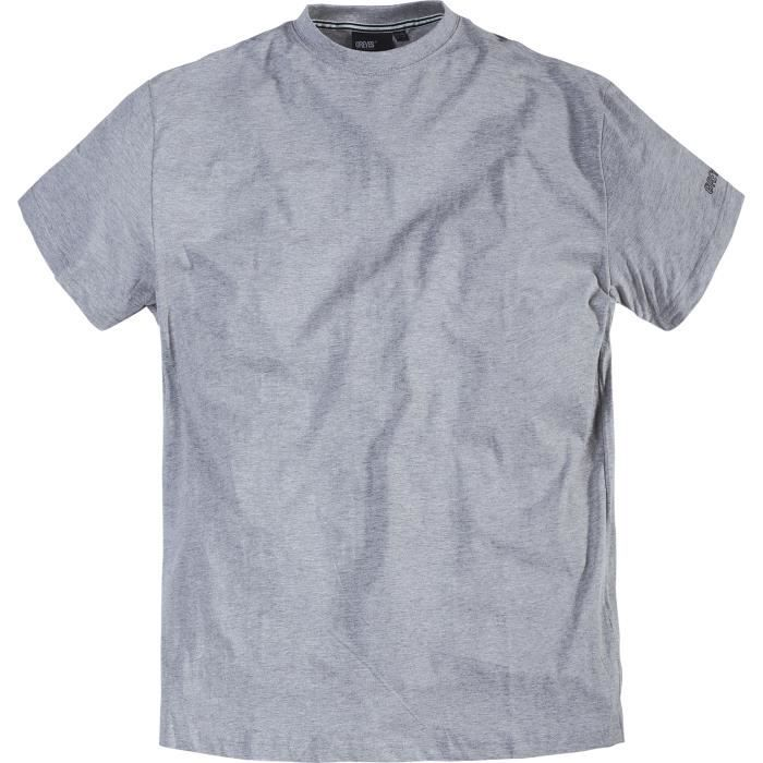 a1360c9e31add Grande taille - tee-shirt US gris chiné col rond Gris - Achat ...