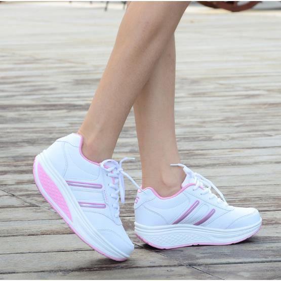 Le tourisme de loisirs chaussures en cuir coréen et la plate - forme de chaussures chaussures portable