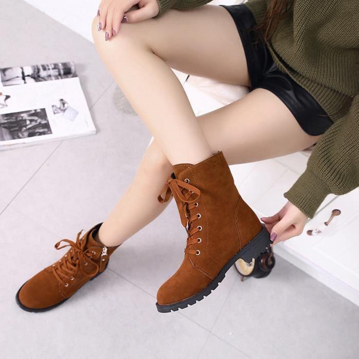 Femme Cuir Daim En Cheville love2805 Browm Zip Chaussures Beguinstore Peluche Souple Bottes Courtes x1qtYdIw