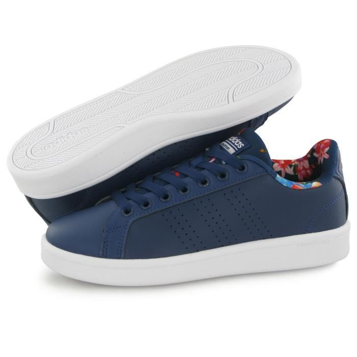 Adidas Neo Cloudfoam Advantage bleu, baskets mode femme