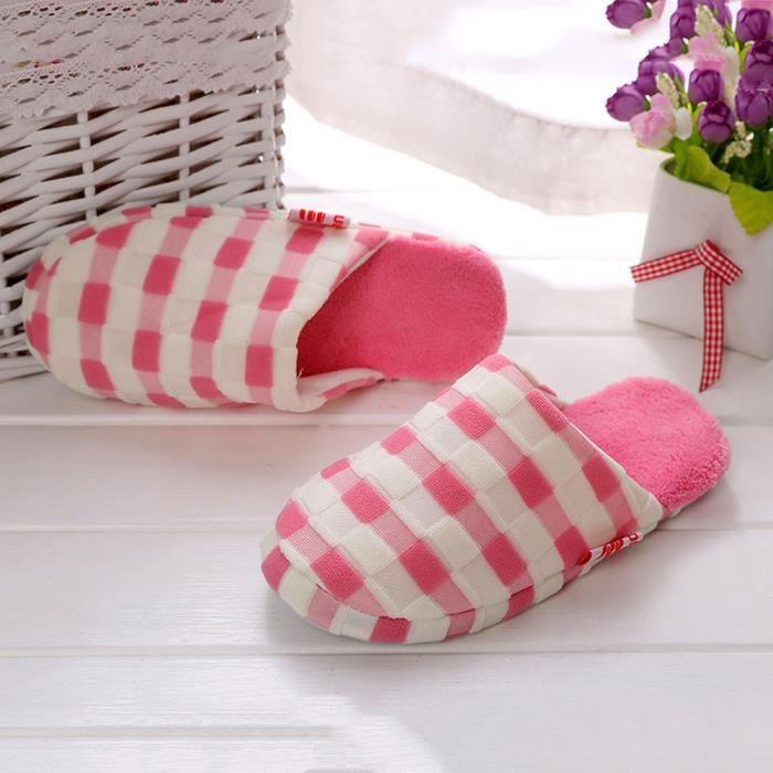 Napoulen®chaudes En Hiver Maison Fourrure sdm70912258pk Rose Pantoufles De Chaussures Intérieur Faux r1rTq76