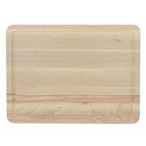 THEKITCHENETTE Planche ? découper avec rigole 5040379 43x32cm beige