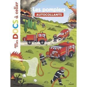 LIVRE LOISIRS CRÉATIFS Les pompiers. Autocollants