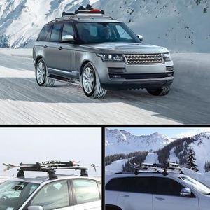 PORTE-SKI Porte-Skis pour toit de voiture de Capacité 2 skis