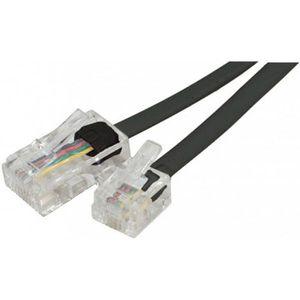 CÂBLE RÉSEAU  Cable RJ11 RJ45 téléphone 5m noir