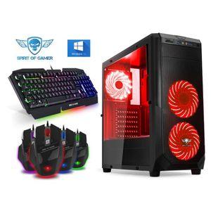 UNITÉ CENTRALE  Ordinateur Pc Gamer Rogue Red AMD A8 9600 - GeForc