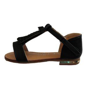 SANDALE - NU-PIEDS sandale fille noire à frange