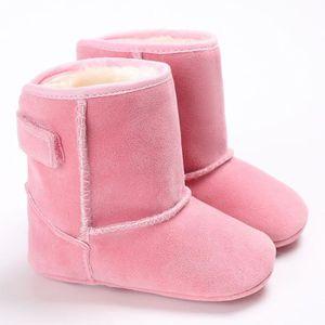 Automne hiver bébé garçon Soft Sole premier marcheur chaussures bottes de neige Bleu iP47F