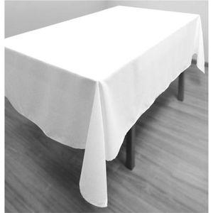 nappe rectangulaire blanche achat vente pas cher. Black Bedroom Furniture Sets. Home Design Ideas