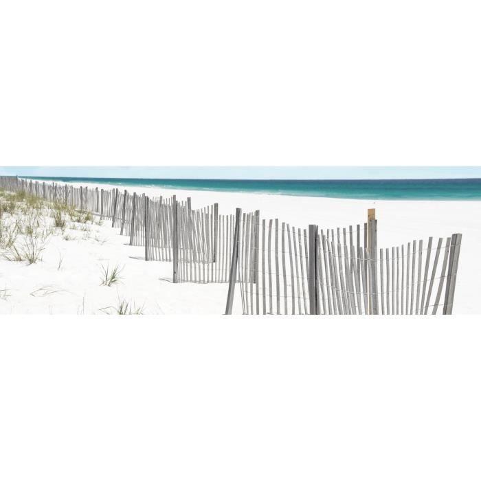 ARTIS Toile imprimée Cabane Barrière de plage 30 x 97 cm