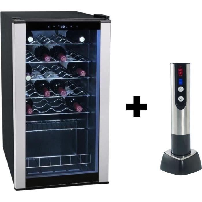 Pack Climadiff : CLS28A - Cave à vin de service - 28 bouteilles + TB5035 tire bouchon électrique