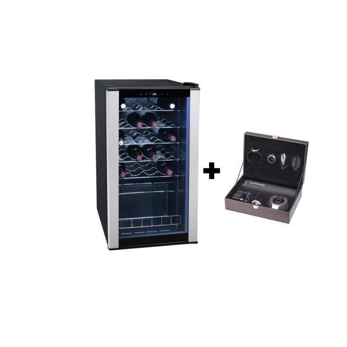 Pack Climadiff : CLS28A - Cave à vin de service - 28 bouteilles + PACK6 - Coffret du sommelier