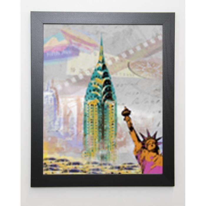 JULES Image encadrée New York Vintage - 47x57 cm - Multicolore
