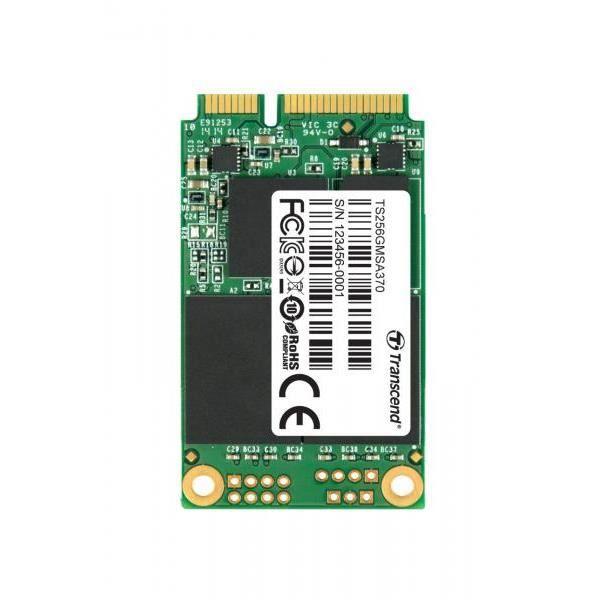 TRANSCEND Disque du interne MSA370 - SSD - 256 Go - SATA III 6Gb/s - mSATA - DDR3 DRAM