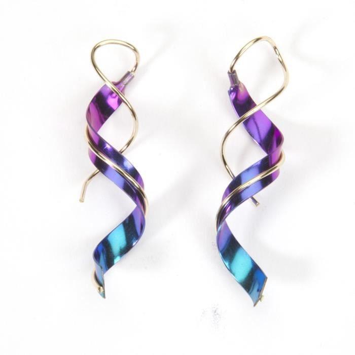 Womens Niobium Earrings Earring Elet Spiral Twist Dangle For Jewelry DTIKJ