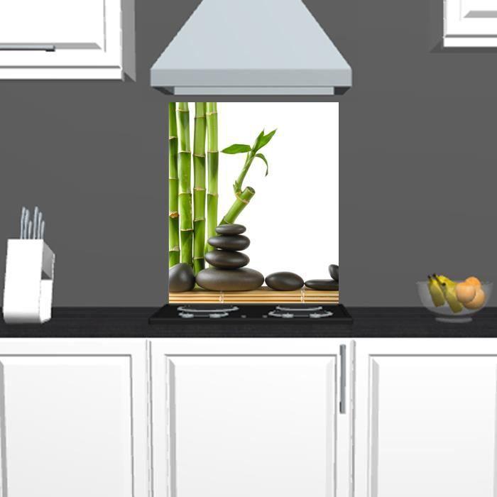 cr dence fond de hotte motif les bambous achat. Black Bedroom Furniture Sets. Home Design Ideas